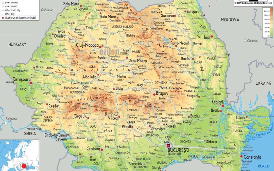 Transilvania Romania Cartina.Romania Quadro Generale Extendis